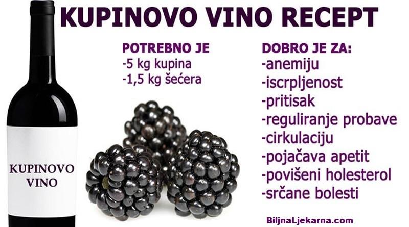 kupinovo vino recept Biljna Ljekarna